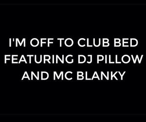 sleep and club image