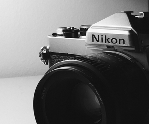 black and white, camera, and film image