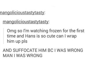 frozen, funny, and hans image