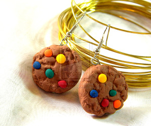 cookie, earring, and jewelry image