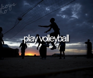 volleyball and play image
