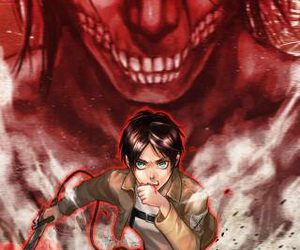 eren, attack on titan, and titan shifter image