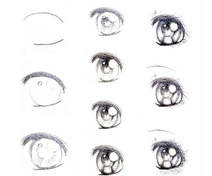 draw, eyes, and رسم image