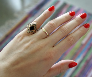 fashion, red, and golden image