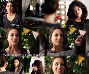pll, emily, and funny image