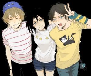 armin, mikasa, and anime image