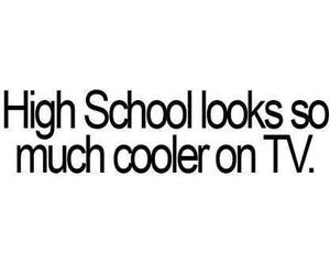 tv, high school, and school image