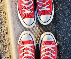 converse, red, and shoe image