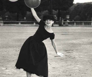 audrey hepburn, audrey, and balloons image