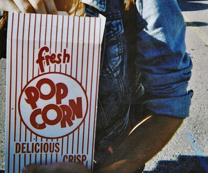 girl, popcorn, and photography image