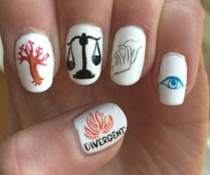 nail art, divergent, and allegiant image