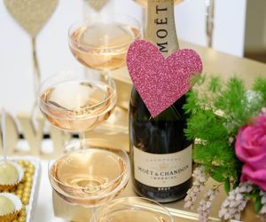 champagne, heart, and party image