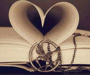 book, hunger games, and love image