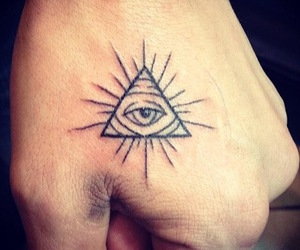 eye, illuminati, and tattoo image