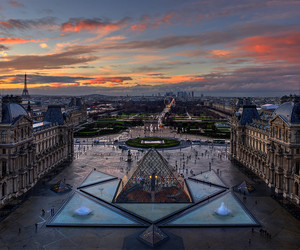 arc de triomphe, eiffel tower, and hdr image