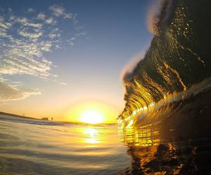 nature, ocean, and surf image