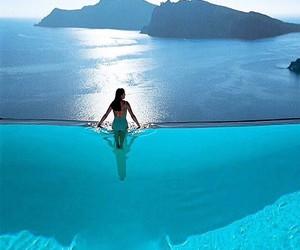 pool, blue, and sea image
