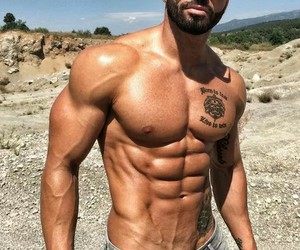 abs, workout, and chest image