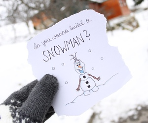 winter, frozen, and olaf image