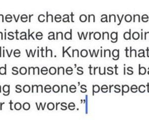 cheat, trust, and love image