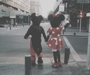 dysney, grunge, and mickey et minnie image