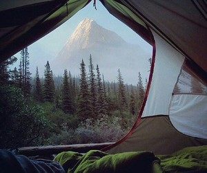camp, nature, and couple image
