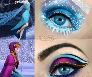 anna, eyes, and makeup image