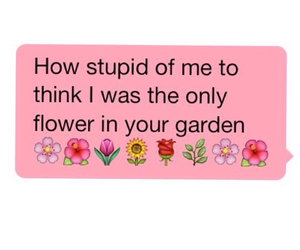 flower, sad, and stupid image