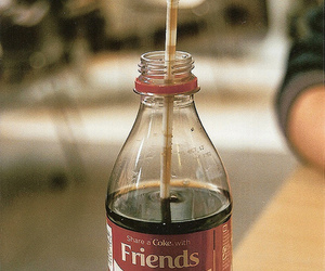 friends, coke, and drink image