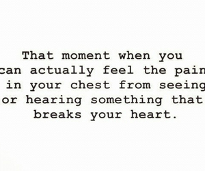 pain, quote, and heart image
