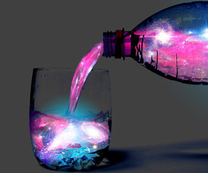 galaxy, water, and drink image