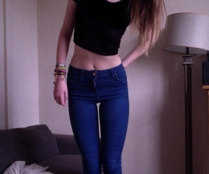 girl, pale, and skinny image