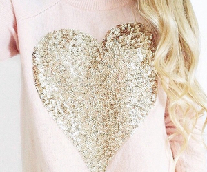 fashion, gold, and heart image