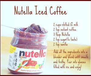 nutella, coffee, and diy image