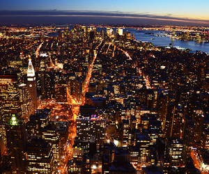 city, newyork, and night image