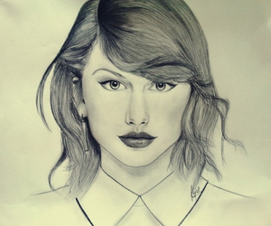 art, sketch, and Taylor Swift image