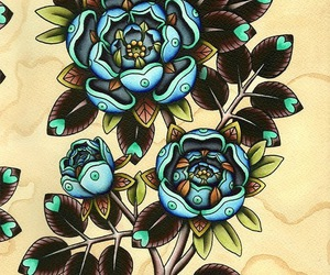 flower tattoo, ink, and tattoo flash image