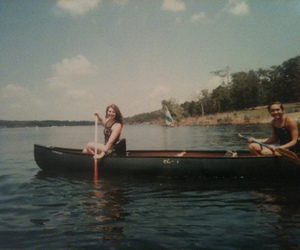 boat, girls, and sail image
