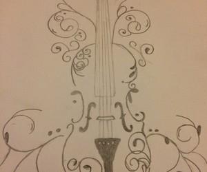 violin, drawing, and music image