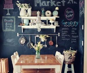 blackboard and kitchen image
