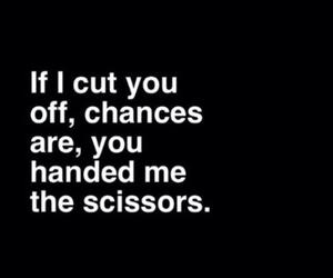 quotes, scissors, and sad image
