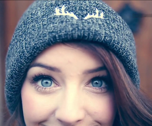 zoella, eyes, and blue image