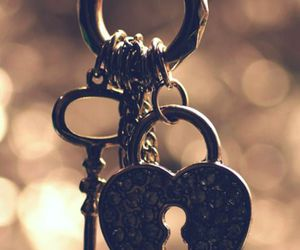key, heart, and vintage image
