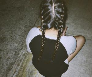 braid, girl, and grunge image