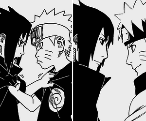 naruto, sasuke, and manga image