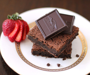 brownies, chocolate, and sweet image