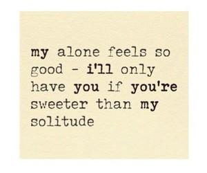 alone, solitude, and quote image