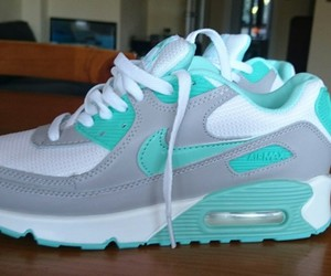 grey, mint, and nike image