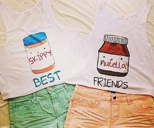 best friends, clothes, and summer image