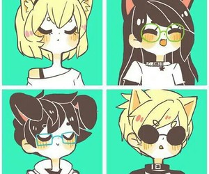 homestuck, john egbert, and jade harley image